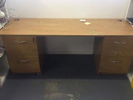 Large Pine Desk with keys