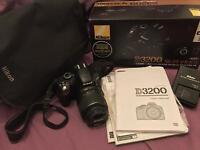 Nikon D3200 Digital SLR Camera with 18-55mm VR Lens Kit - Black (24.2MP) 3 inch LCD - 16GB SD Card
