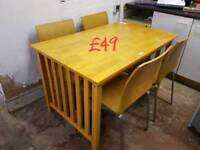 dining table and 4 chairs free delivery in derby