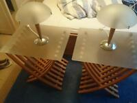 Ikea bedside tables matching lamps