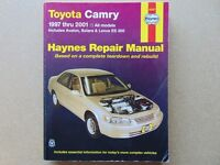Haynes Manual for TOYOTA CAMRY -1997 Through 2001 (Covers:All Camry, Avalon, Solara & Lexus Es 300.)