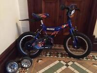Raleigh mx14 kids bike with stabilisers
