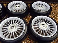 "18"" BBS ALLOY WHEELS MK4 GOLF BORA BETTLE TT CELICA ACCORD LEXUS HONDA SET OF 4"