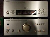 Denon RDS Tuner and Amplifier plus Denon Bookshelf Speakers