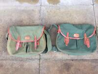 Shakespeare game fishing green canvas bags (x2)