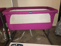 Chicco Next 2 Me Crib in pink. AMAZING CONDITION