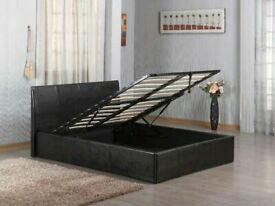 ⭐CLOSEOUT SALE FAUX LEATHER SINGLE/DOUBLE/KINGSIZE OTTOMAN STORAGE BED FRAME WITH MATTRESS OF CHOICE