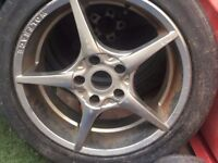 Wolfrace alloys and tyres