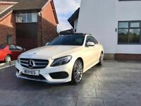 Mercedes C200 AMG line premium plus 2.0 turbo diamond white