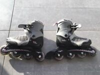 XC kids rollerblades in VGC - size 12-2 with carry bag, and protective pads