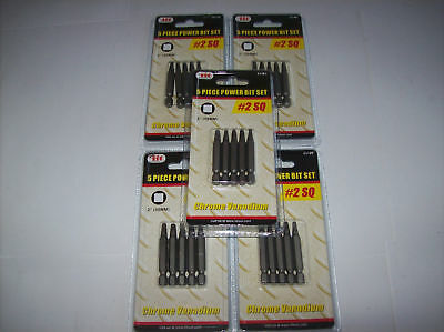 "25 IIT 2"" SQ #2 SQUARE ROBERTSON POWER DRILL SCREW BITS"