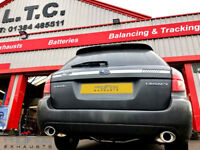 Proflow Exhausts Subaru Legacy Mid and Dual Rear and Tailpipe