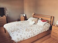 Beautiful king size bed with under storage