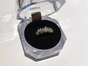 #1283 LADIES MARQUISE DIAMONDS RING, SIZE 6 3/4, APPRAISAL $2,550, OUR PRICE $695