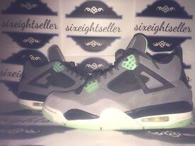 Nike Air Jordan Retro 4 Green Glow