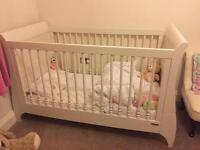 Mamas and papas sleigh cot/bed ivory