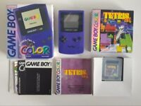 Game Boy Colour Boxed with Original Manuals and Posters, Tetris DX Boxed and Super Mario Land