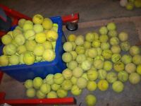 LARGE BLACK BAG OF MIXED USED TENNIS BALLS VARYING CONDITION