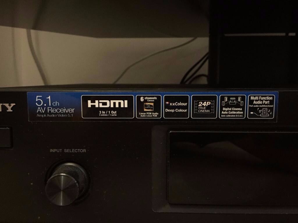 sony 5 1 home cinema av receiver in brixton london. Black Bedroom Furniture Sets. Home Design Ideas