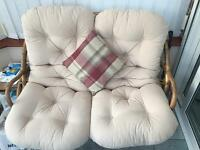 Conservatory 2 seater & armchair