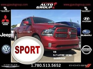 2013 Ram 1500 Sport   Sunroof   Heated and Cooled Seats