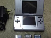 original nintendo ds plus charger and games
