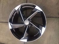 """NEW 4x 18"""" inch Audi Rotor Twist Arm Alloy Wheels BLACK A3 A4 A5 RS3 RS4 RS5 RS6 S5 S3 S4 TTRS z222y"""