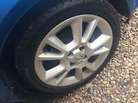 "Vauxhall corsa tigra 16"" alloy wheels and tyres"