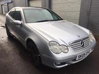 SALE! Mercedes c class, 2.2cdi diesel coupe, full years MOT