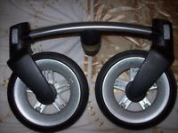 QUINNY BUZZ PUSHCHAIR DOUBLE FRONT WHEEL FROM ORIGINAL QUINNY TO CONVERT FROM BUZZ 3 TO BUZZ 4