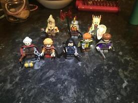 8 Lego LOTR/hobbit figures