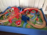 Children's wooden Train table set