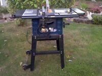 Mac Alllister 250 mm 1500 watt Table saw. for sale  Marske-by-the-Sea, North Yorkshire