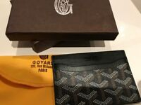 black NEW Goyard card holder wallet
