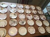 Job lot/collection of 68 vintage China mixed plates / saucers
