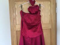 Coast raspberry full length skirt, corset top and bag