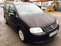 04 reg Vw toura 1.9 Tdi 6 Speed manual