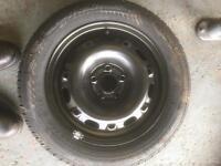 Brand new Firestone tyre with steel wheel
