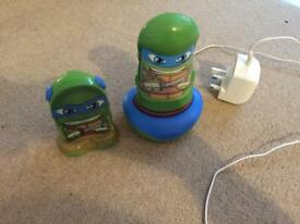 Go glow ninja turtle night light and room guard