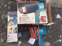 Black and Decker Hot Air Paint Stripper and Nozzles