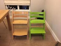 2 x Stoke trip trap chairs