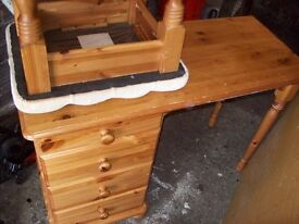 small pine dresser.Suit youngster, sizes, 76cm high, 43cm depth, 104cm long.
