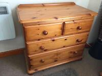 Solid Wooden chest of draws