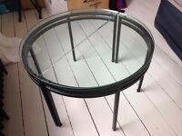 Unique Art Deco round coffee table glass / metal - URGENT SALE