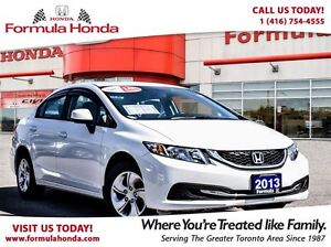 2013 Honda Civic LX | BLUETOOTH | ACCIDENT FREE | ONE OWNER!!