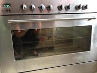 Professional 6 ring gas range style cooker