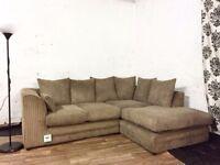 Brand new jumbo cord corner sofa**Free delivery**