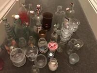 Wedding glass jars/bottles/vases shabby chic