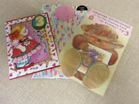 NEW Two Age 3 Birthday Cards and Wrapping