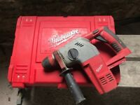 Milwaukee V28 HX cordless rotary Hammer Drill (28 Volt)